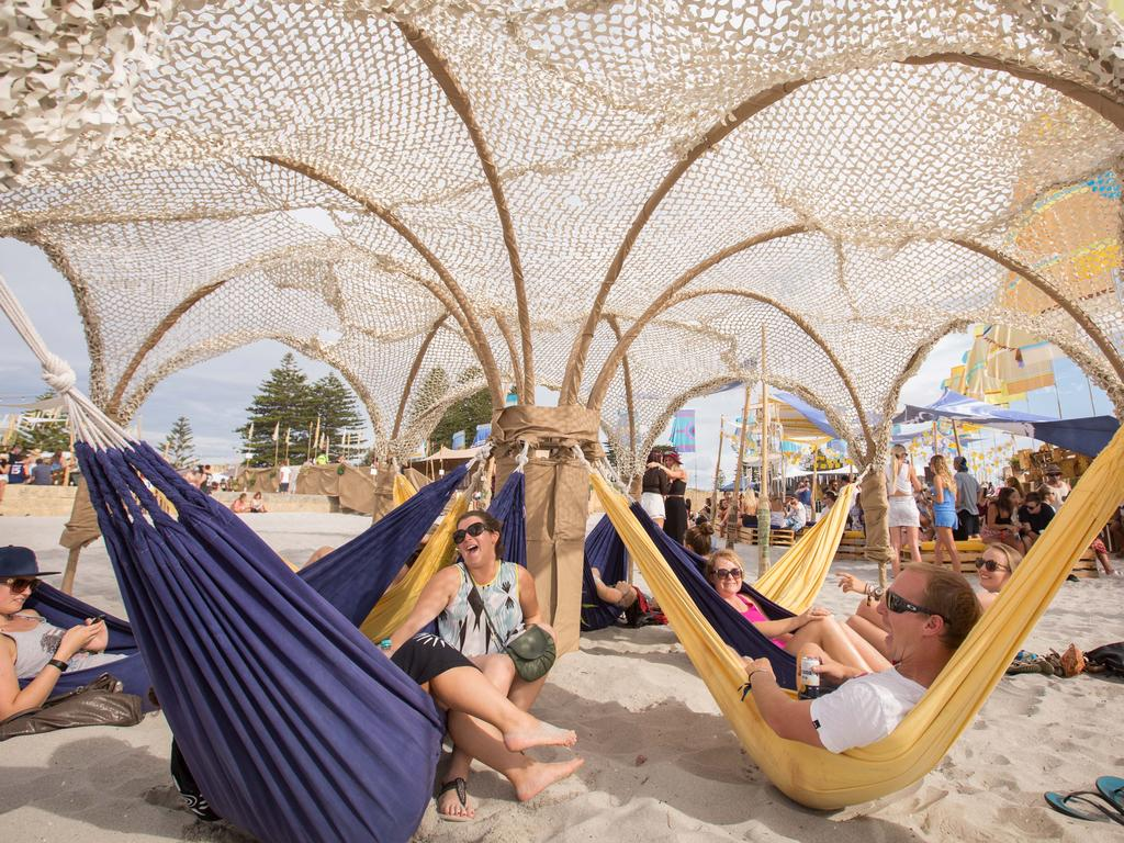 The inaugural Corona SunSets Festival took over Fremantle's South Beach with a capacity crowd of 5000. Picture: Supplied
