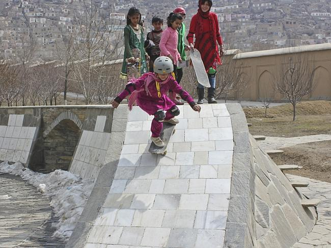 Mr Percovich said Kabul is a rewarding but difficult place to work. Pic: Skateistan