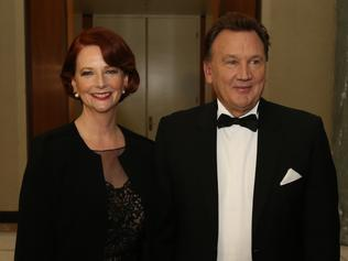 Ex-PM Julia Gillard and partner Tim Mathieson.