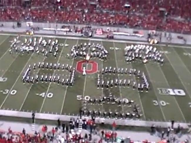 Video game classics: Ohio State Marching Band performs Space Invaders. Picture: You Tube