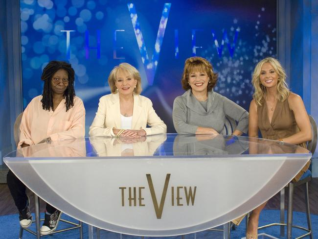 Whoopi Goldberg, Barbara Walters, Joy Behar and Elisabeth Hasselbeck in 2007.
