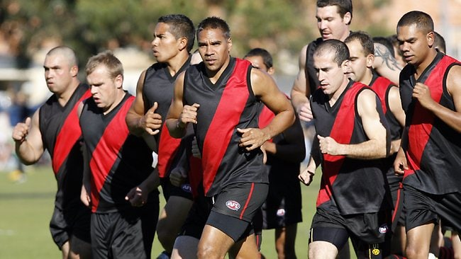 Andrew Krakouer runs out with Wooroloo in 2009.