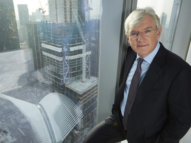 Eagerly awaiting opening ... Westfield CEO Steven Lowy at the Westfield office in the World Trade Center in New York City. Picture: David Joshua Ford/The Australian