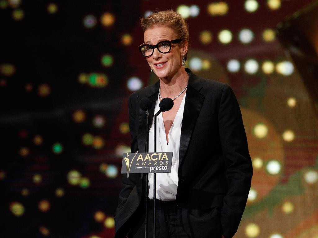 Rachel Griffiths presents an AACTA Award during the 5th AACTA Awards Presented by Presto at The Star on December 9, 2015 in Sydney, Australia. Picture: Getty