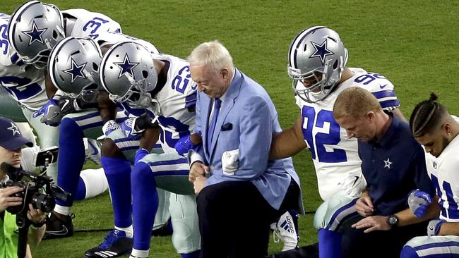 dallas cowboys protest