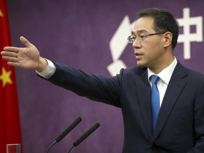 Chinese Ministry of Commerce spokesman Gao Feng warned the tariffs could set off a chain reaction that would disrupt global trade. Picture: AP Photo/Mark Schiefelbein