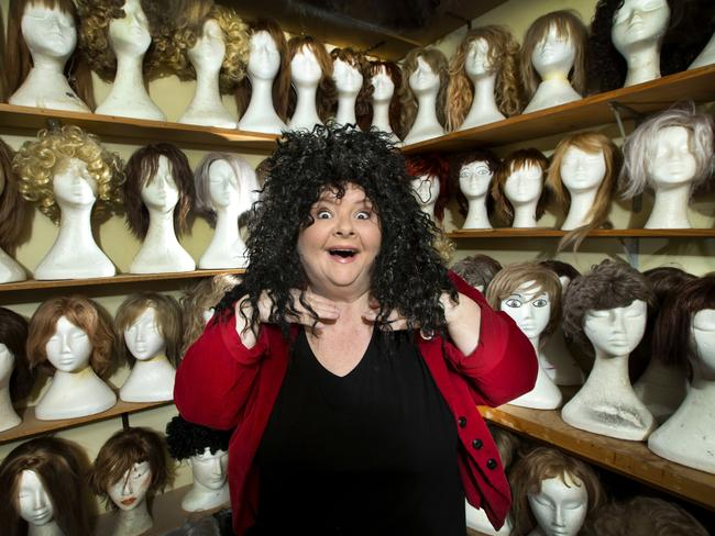 Magda has got inspiration for many of her comical characters by just trying on wigs.