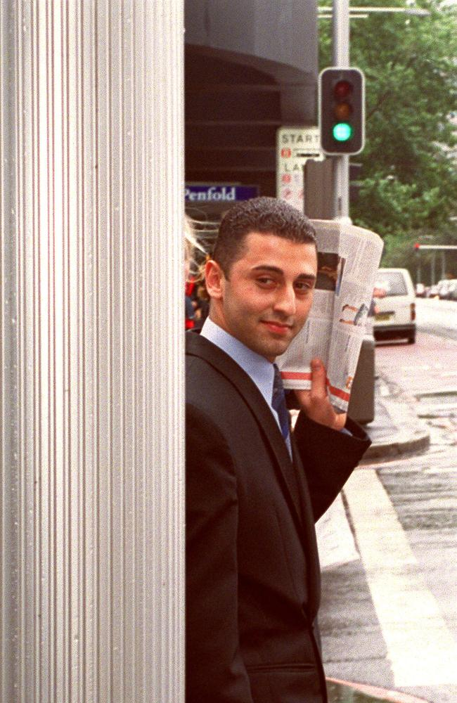 Belal Hajeid leaving the District Criminal Court in Sydney in 2001. Picture: Mick Tsikas