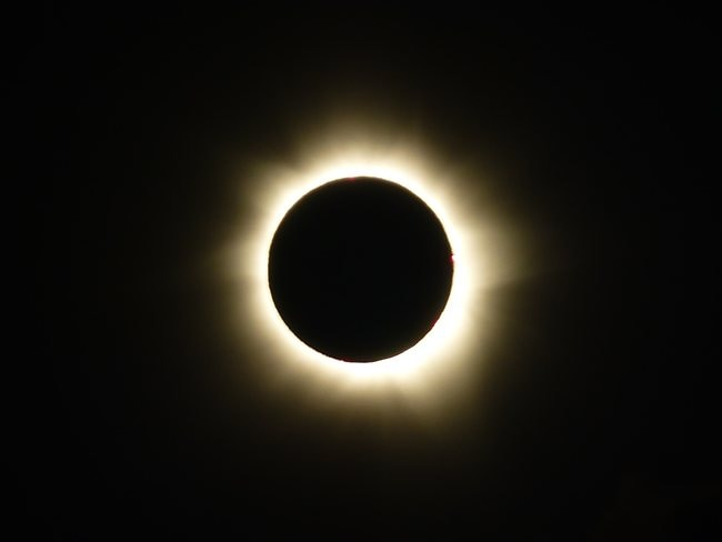 Shannon Dooley sent us this image of the eclipse at totality.