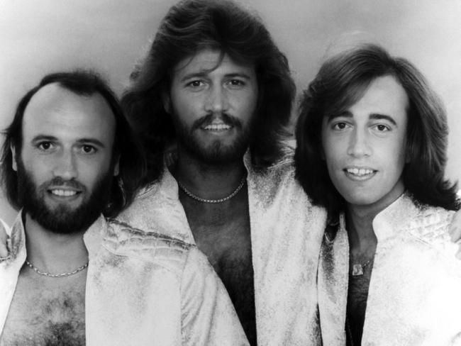 Maurice, Barry and Robin Gibb of The Bee Gees/