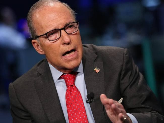 "Mr Trump says he is looking at Larry Kudlow ""very strongly"" for economics job. Picture: Supplied"