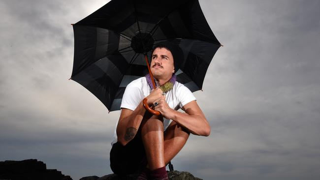 Gold Coast resident Chad Calderon is ready for the wet weather to come. Picture: John Gass
