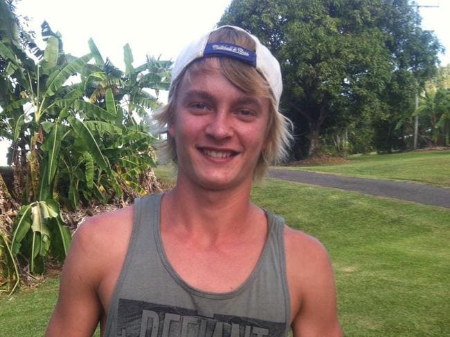 Innisfail man Lee De Paauw, 18, is lucky to be alive after plunging into the croc-infested Johnstone River after a dare.