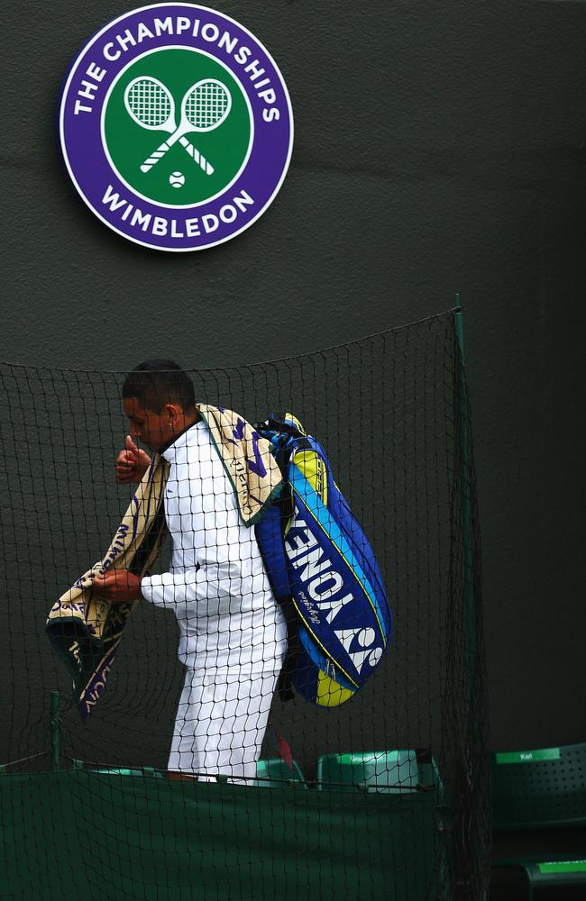 Nick Kyrgios after losing his Wimbledon quarter-final to Milos Raonic.