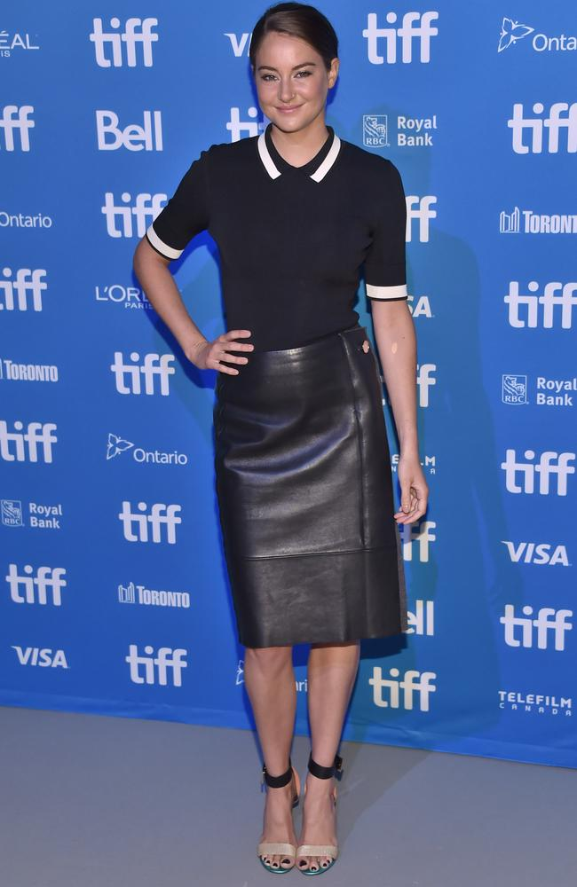 Shailene Woodley attends the Snowden press conference at the Toronto International Film Festival.