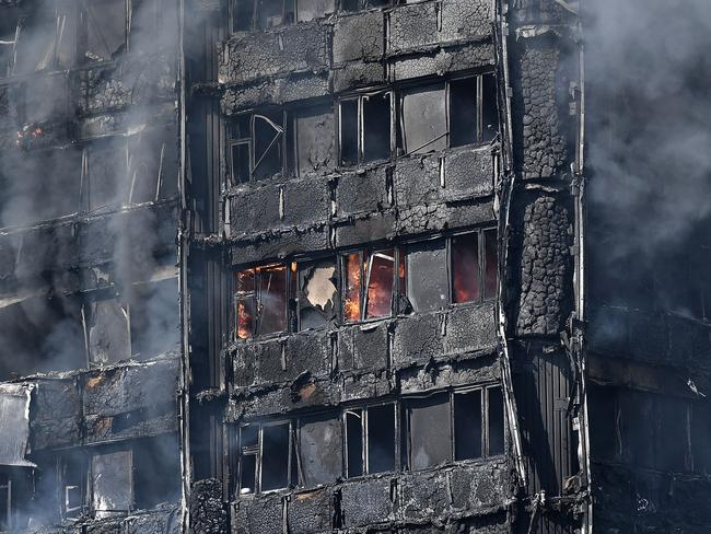 The Grenfell Tower tragedy has sparked action here, with authorities across the country conducting audits on cladding. Picture: Getty Images