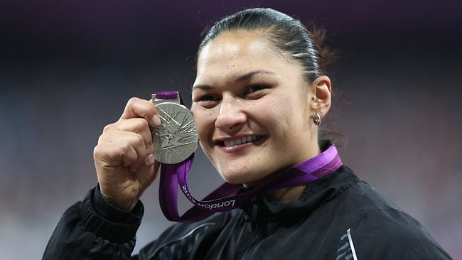 SILVER LINING: New Zealand's Valerie Adams is now an Olympic gold medallist. Picture: Clive Brunskill