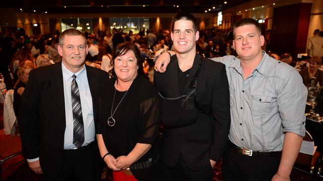 Paul, Cheryl, Simon and Dale Dwyer at Simon Dwyer tribute night on Friday. Picture: Photo Jeremy Piper