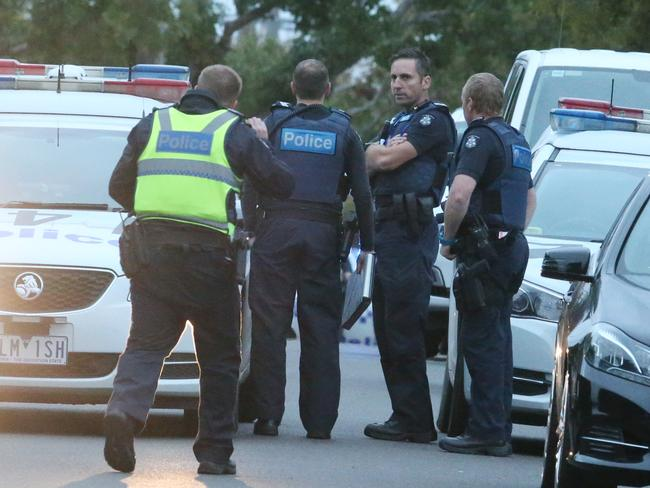 Neighbours reported hearing a gunshot. Picture: David Crosling