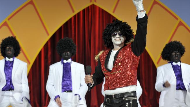 The infamous blackface skit on a Hey Hey It's Saturday.