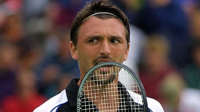 Giant Croatian Goran Ivanisevic was brought down by a seashell.