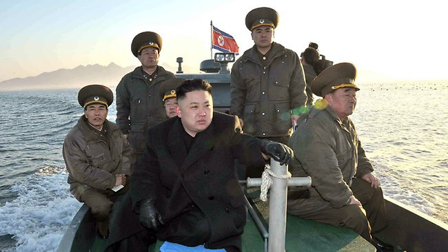 """North Korean leader Kim Jong-un visits artillery troops near disputed waters with South Korea, urging them to be on """"maximum alert"""" because war could break out anytime."""