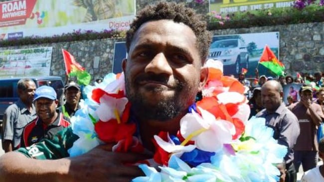 James Segeyaro is hoping for a friendly welcome from PNG fans.
