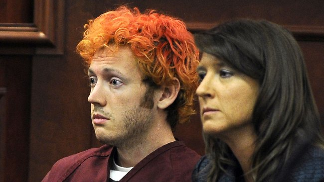 James Holmes appears in court at the Arapahoe County Justice Center in Centennial, Colorado. Photo: AFP
