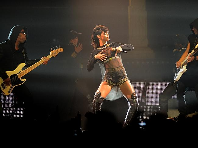 Rihanna performing in concert at the Adelaide Entertainment Centre