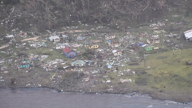 Emergency services are hoping to reach these areas today. Picture: NZ Defence AirForce/Fijian Government