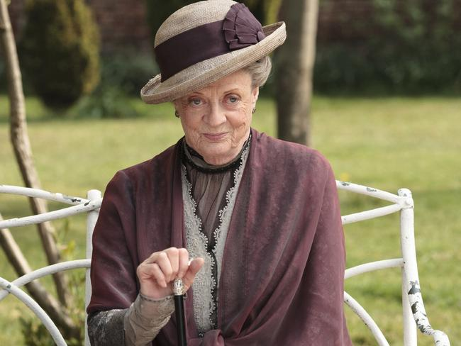 Maggie Smith has earned a new legion of fans as the Dowager Countess Grantham in 'Downton Abbey.' Picture: AP