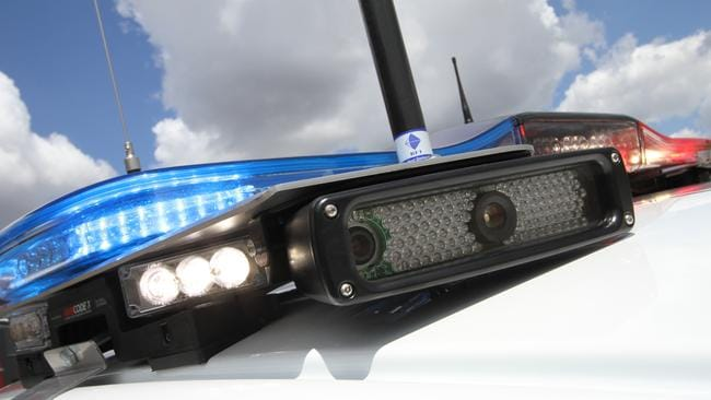 Eye in the sky ... police are increasingly using roof-mounted numberplate cameras to detect stolen or unregistered cars, unlicensed drivers and wanted criminals. Picture: Supplied.