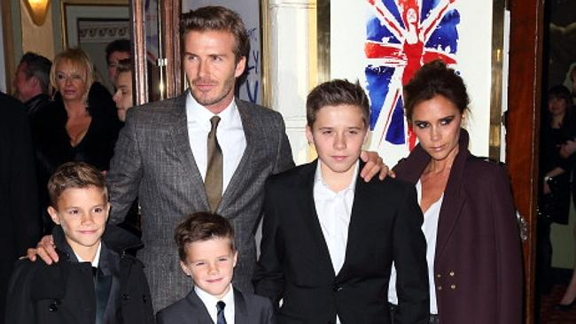 The truth comes out: David Beckham is actually a Babushka Doll. Open him up and three smaller versions come out. Picture: Supplied