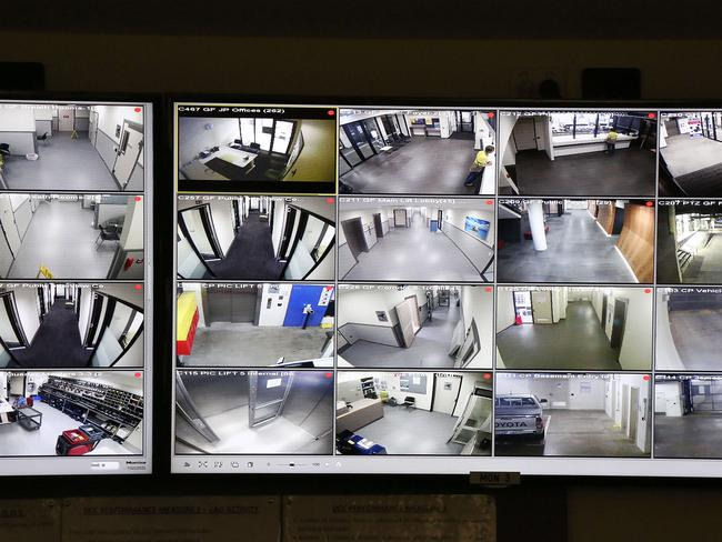 A police control room in Perth that watches suspicious activity.