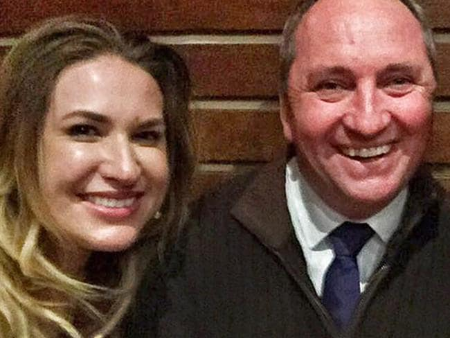 A law banning sex between members of Congress and staff this week passed unanimously in the US House of Representatives. Pictured, Barnaby Joyce and former staffer Vikki Campion