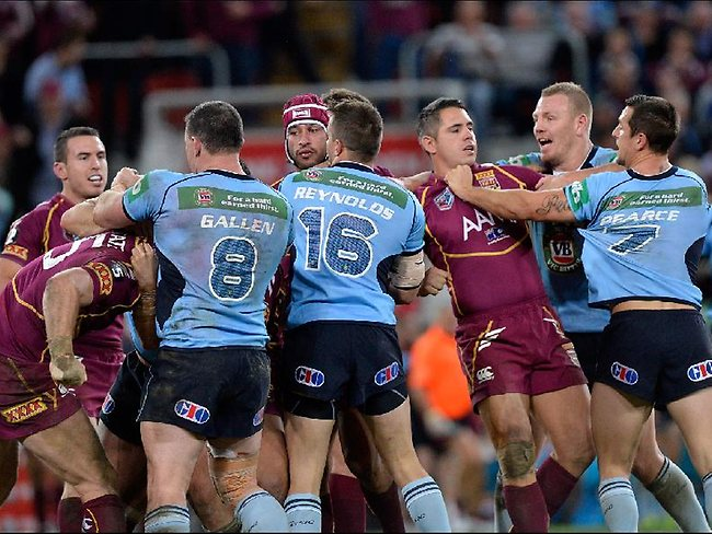 NSW and Queensland players almost come to blows in State of Origin II.