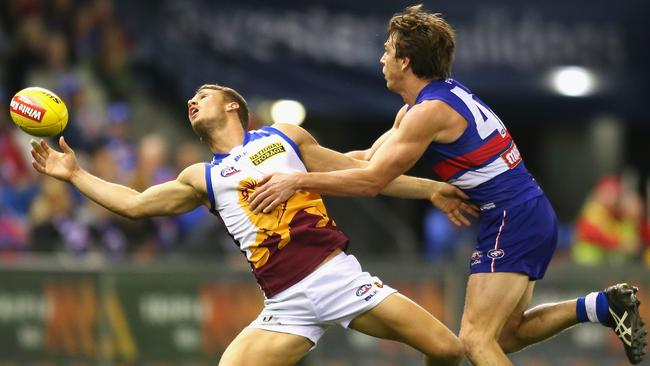 Brisbane's Jack Redden notched his eight SuperCoach century of 2014 against the Western Bulldogs.