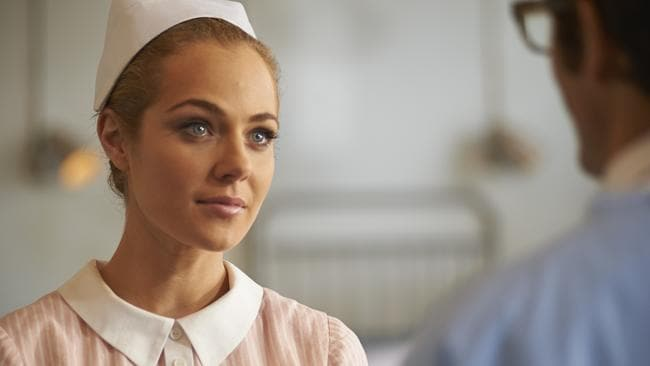 Jessica Marais in Channel Nine's drama Love Child. Picture: Supplied