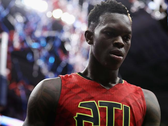 A big game from Dennis Schroder wasn't enough for the Hawks. Picture: Getty Images/AFP