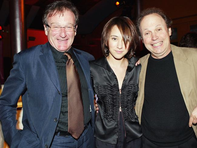Close bond ... Robin Williams, Zelda Williams, and Billy Crystal in 2004.