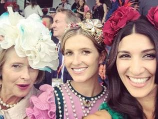 "Melbourne Cup 2016 via social media ...Kate Waterhouse, ""All set for the big race! @gai_waterhouse @hodawaterhouse#melbournecup #excessknowledge."" Picture: Instagram"