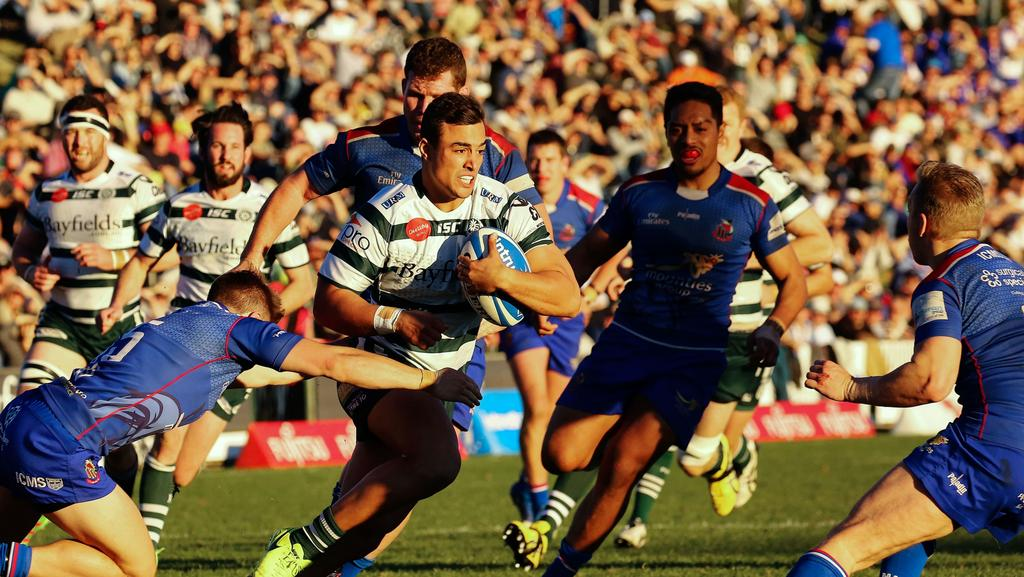 Warringah and Manly played in front of a bumper crowd at Rat Park last month.