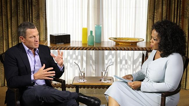 Oprah Winfrey's exclusive interview with Lance Armstrong. Picture: AFP