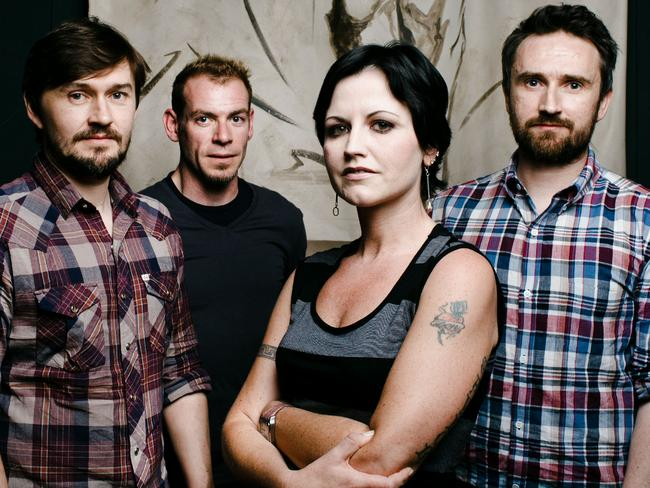 Musicians (L-R) Noel Hogan, Mike Hogan, Dolores O'Riordan and Fergal Lawler from band The Cranberries.