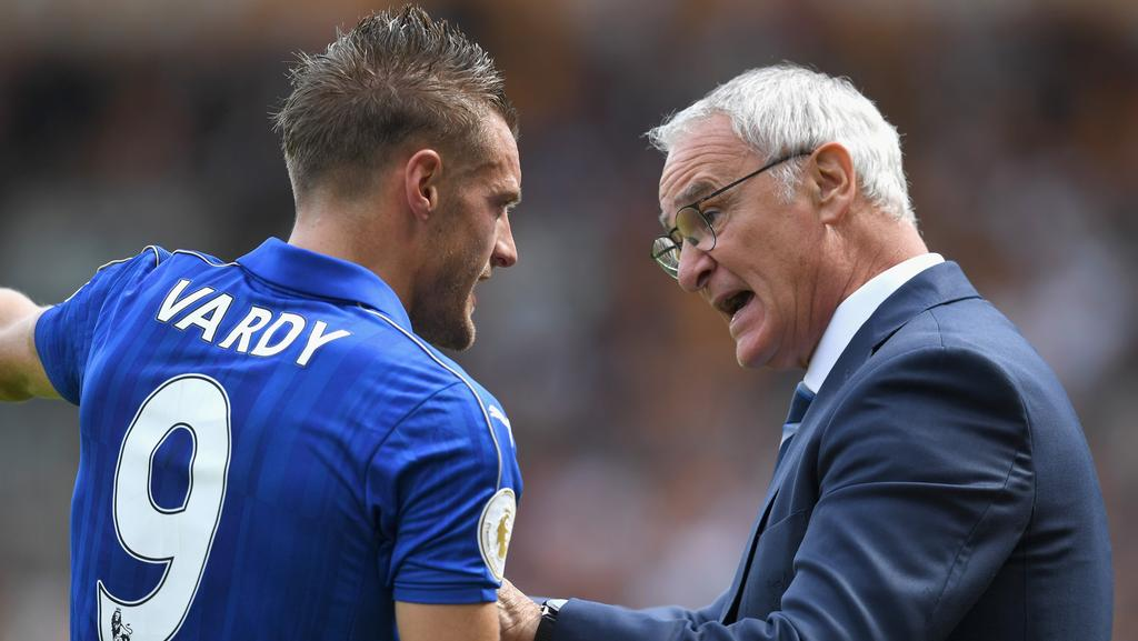Jamie Vardy and Claudio Ranieri.