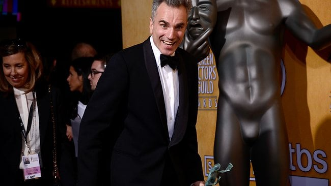 Daniel Day-Lewis, winner of Outstanding Performance by a Male Actor in a Leading Role for Lincoln. Picture: Frazer Harrison/Getty Images/AFP