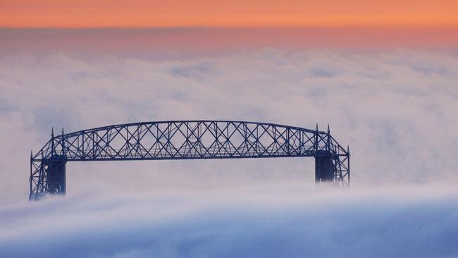 No one's really sure what this bridge in Duluth crosses, but they're all very certain that they need it. (AP Photo/Jack Rendulich)
