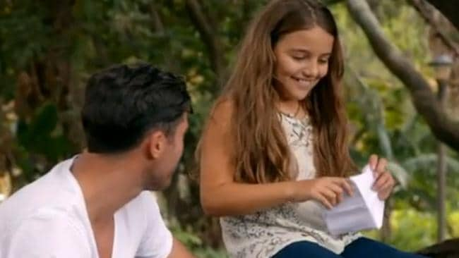 Snezana has involved her daughter Eve in the reality TV show, getting the 10-year-old to quiz the Bachelor Sam Wood.