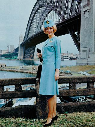 The Qantas airline uniform worn from 1964 to 1969. Picture: Qantas
