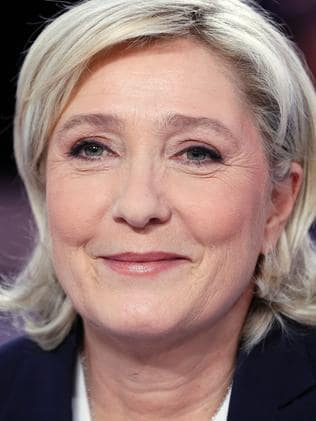 Putin's preferred candidate, Marine Le Pen. Picture: Thomas Samson / AFP